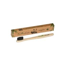 Зубная щетка из бамбука, щетина с угольным напылением Mini - фото 6050