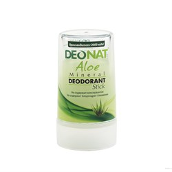 "Дезодорант-Кристалл ""ДеоНат"" с натур. соком АЛОЕ, стик зеленый, 40 гр - фото 6229"