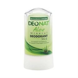 """Дезодорант-Кристалл """"ДеоНат"""" с соком АЛОЕ, стик зеленый, 60 г - фото 6230"""