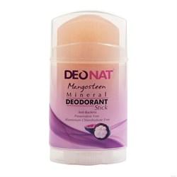 """Дезодорант-кристалл """"Деонат"""" с соком Мангостина, розовый стик, вывинчивающийся (twistup), 100гр - фото 6232"""