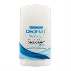 """Дезодорант-Кристалл """"Деонат"""" чистый, стик плоский, вывинчивающийся (twistup), 100гр - фото 6238"""