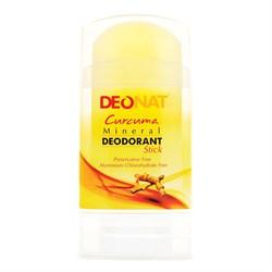 "Дезодорант-кристалл ""Деонат"" с Куркумой, жёлтый стик, вывинчивающийся (twistup), 100гр - фото 6784"