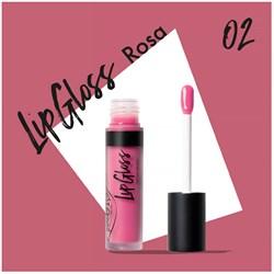Жидкая помада-блеск для губ 02 LipGloss роза - фото 8108
