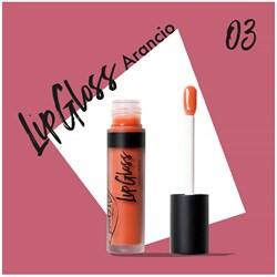 Жидкая помада-блеск для губ 03 LipGloss апельсин - фото 8111
