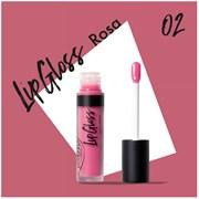 Жидкая помада-блеск для губ 02 LipGloss роза